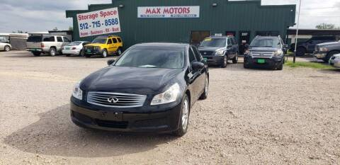 2007 Infiniti G35 for sale at Max Motors in Corpus Christi TX