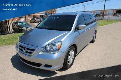 2006 Honda Odyssey for sale at Highland Autoplex, LLC in Dallas TX