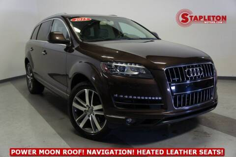 2015 Audi Q7 for sale at STAPLETON MOTORS in Commerce City CO