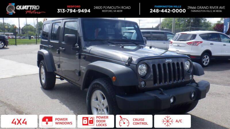 2017 Jeep Wrangler Unlimited for sale at Quattro Motors 2 - 1 in Redford MI