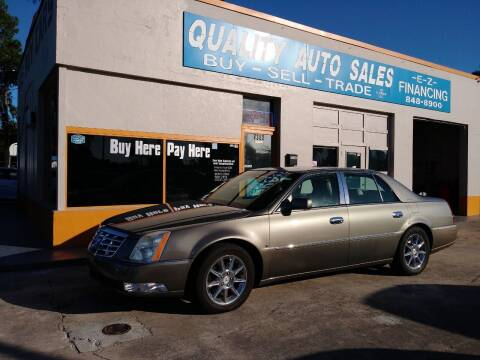 2010 Cadillac DTS for sale at QUALITY AUTO SALES OF FLORIDA in New Port Richey FL