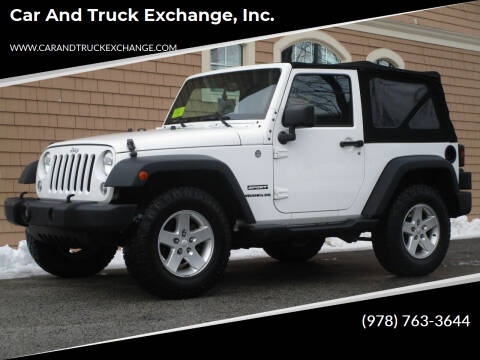 2015 Jeep Wrangler for sale at Car and Truck Exchange, Inc. in Rowley MA