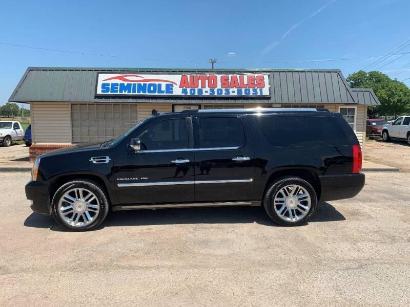 2012 Cadillac Escalade ESV for sale at Seminole Auto Sales in Seminole OK