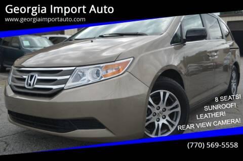 2013 Honda Odyssey for sale at Georgia Import Auto in Alpharetta GA