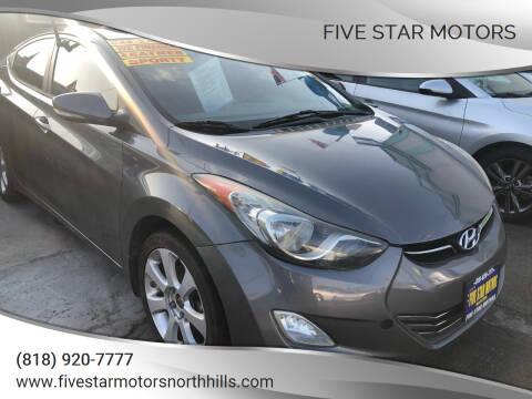 2013 Hyundai Elantra for sale at Five Star Motors in North Hills CA