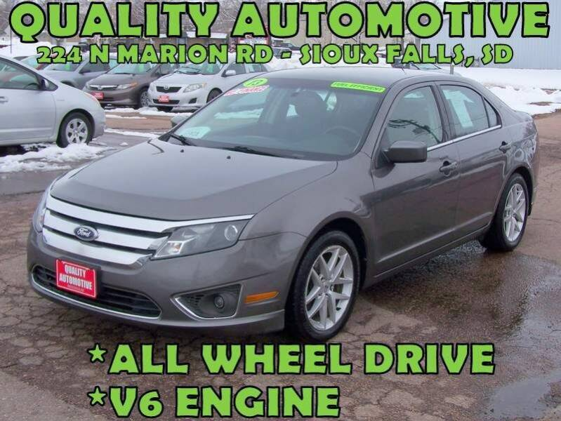 2010 Ford Fusion for sale at Quality Automotive in Sioux Falls SD
