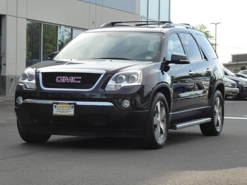 2012 GMC Acadia for sale at Loudoun Motor Cars in Chantilly VA