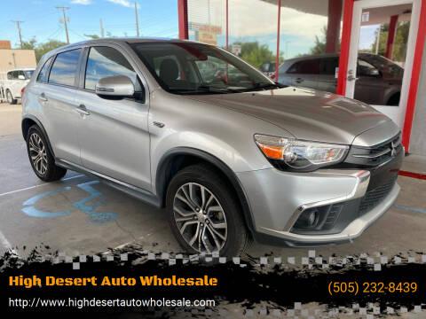 2018 Mitsubishi Outlander Sport for sale at High Desert Auto Wholesale in Albuquerque NM