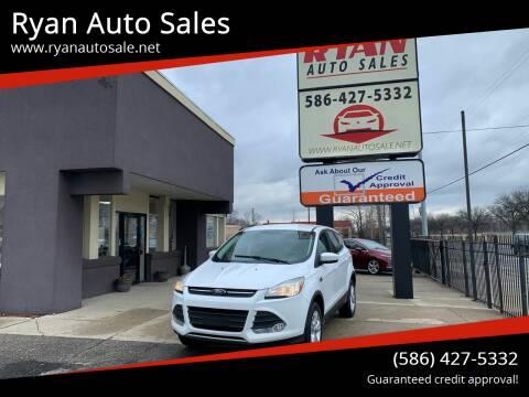2016 Ford Escape for sale at Ryan Auto Sales in Warren MI