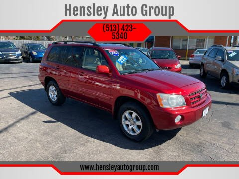 2001 Toyota Highlander for sale at Hensley Auto Group in Middletown OH