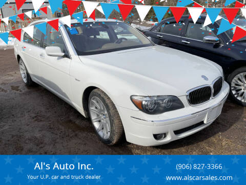 2006 BMW 7 Series for sale at Al's Auto Inc. in Bruce Crossing MI