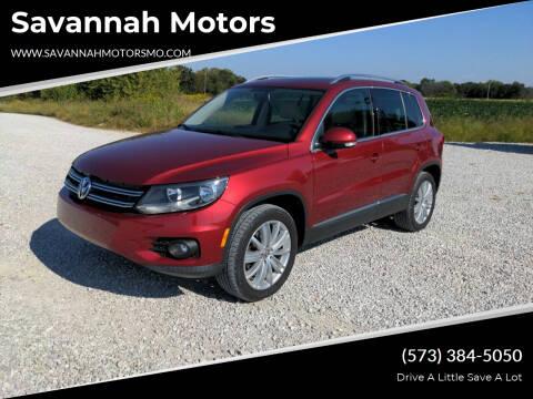 2014 Volkswagen Tiguan for sale at Savannah Motors in Elsberry MO
