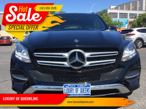 2018 Mercedes-Benz GLE for sale at LUXURY OF QUEENS,INC in Long Island City NY