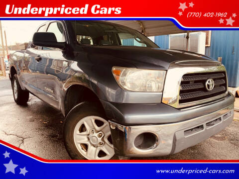 2007 Toyota Tundra for sale at Underpriced Cars in Marietta GA
