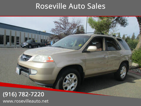 2001 Acura MDX for sale at Roseville Auto Sales in Roseville CA