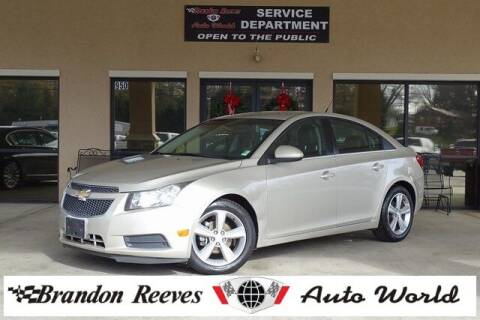2013 Chevrolet Cruze for sale at Brandon Reeves Auto World in Monroe NC