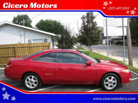 1999 Toyota Camry Solara for sale at Cicero Motors in Cicero IN