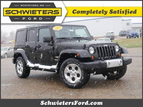 2013 Jeep Wrangler Unlimited for sale at Schwieters Ford of Montevideo in Montevideo MN