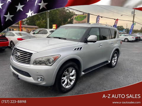2014 Infiniti QX80 for sale at A-Z Auto Sales in Newport News VA