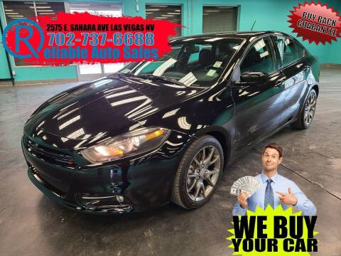 2014 Dodge Dart for sale at Reliable Auto Sales in Las Vegas NV