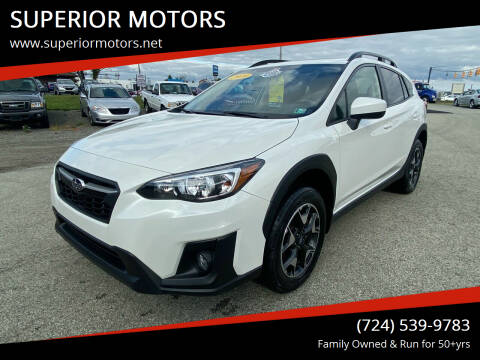 2019 Subaru Crosstrek for sale at SUPERIOR MOTORS in Latrobe PA