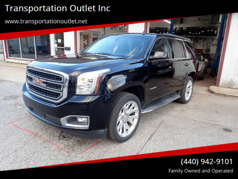 2015 GMC Yukon for sale at Transportation Outlet Inc in Eastlake OH
