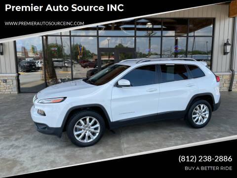 2016 Jeep Cherokee for sale at Premier Auto Source INC in Terre Haute IN