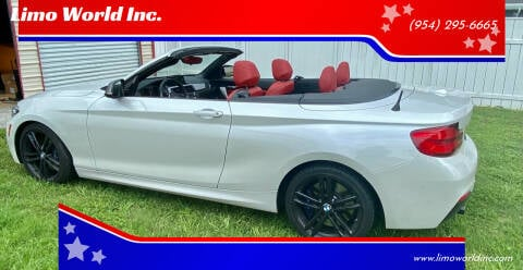 2018 BMW 2 Series for sale at Limo World Inc. in Seminole FL