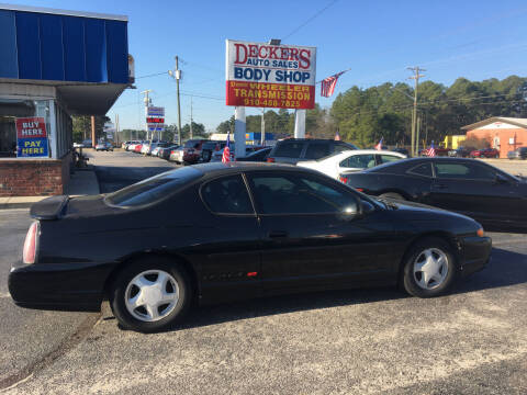 2003 Chevrolet Monte Carlo for sale at Deckers Auto Sales Inc in Fayetteville NC