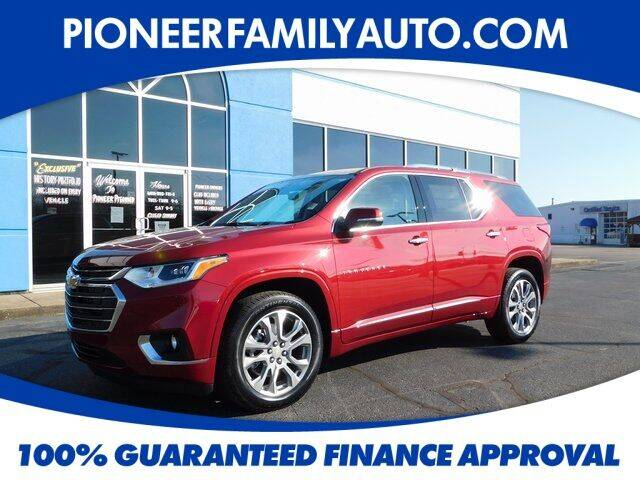 2021 Chevrolet Traverse for sale at Pioneer Family auto in Marietta OH