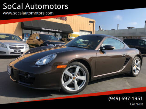 2008 Porsche Cayman for sale at SoCal Auto Motors in Costa Mesa CA