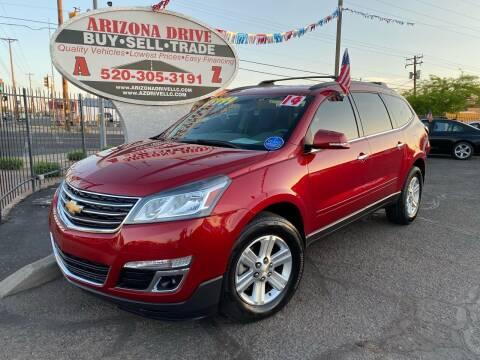 2014 Chevrolet Traverse for sale at Arizona Drive LLC in Tucson AZ