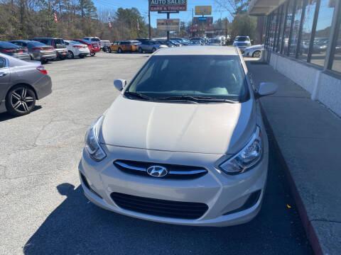 2015 Hyundai Accent for sale at J Franklin Auto Sales in Macon GA