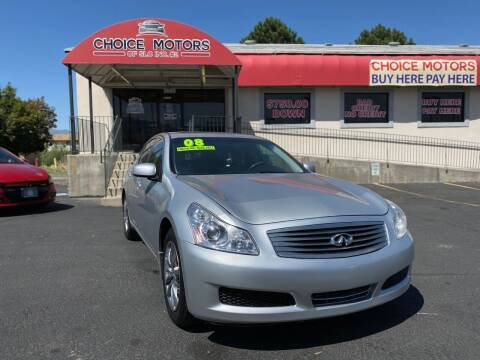 2008 Infiniti G35 for sale at Choice Motors of Salt Lake City in West Valley  City UT