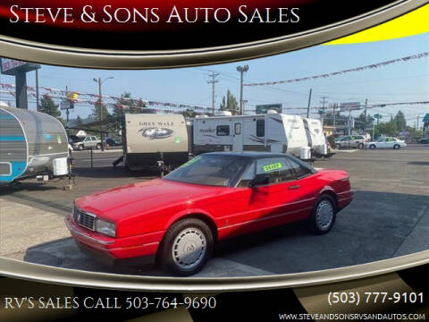 1992 Cadillac Allante for sale at Steve & Sons Auto Sales in Happy Valley OR