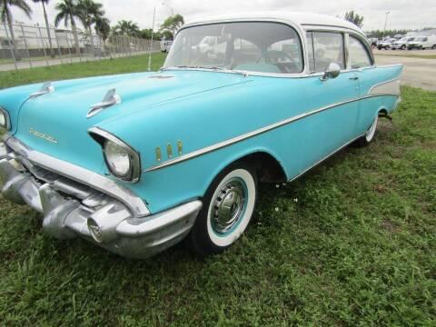 1957 Chevrolet Bel Air for sale at AML AUTO SALES - Sedans/SUV's in Opa-Locka FL