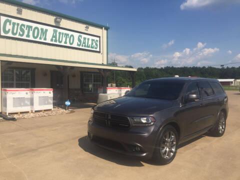 2015 Dodge Durango for sale at Custom Auto Sales - AUTOS in Longview TX