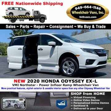2020 Honda Odyssey for sale at Wheelchair Vans Inc - New and Used in Laguna Hills CA