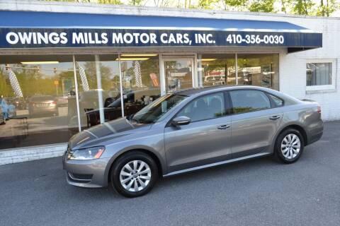 2012 Volkswagen Passat for sale at Owings Mills Motor Cars in Owings Mills MD