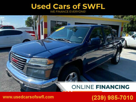 2011 GMC Canyon for sale at Used Cars of SWFL in Fort Myers FL
