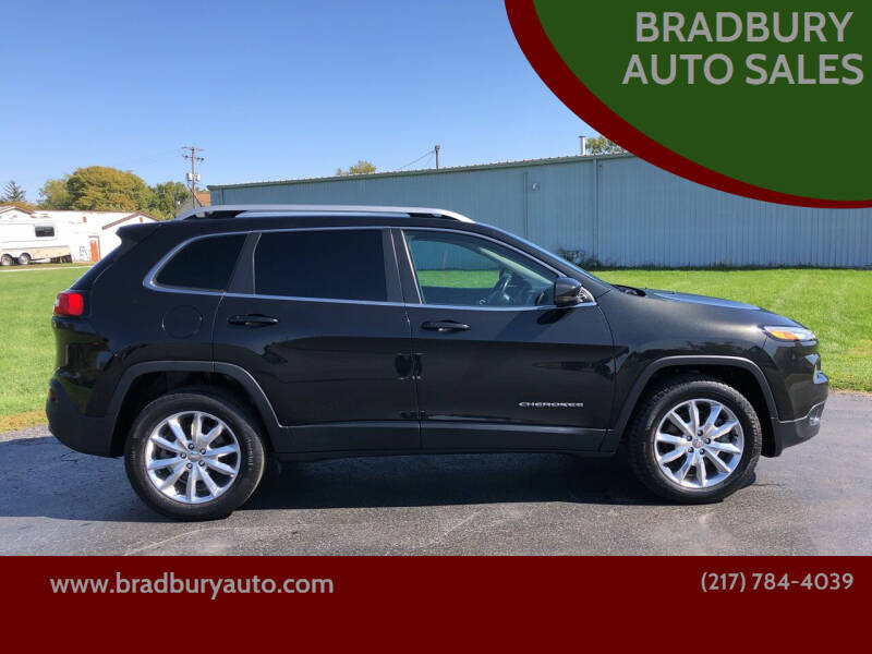 2015 Jeep Cherokee for sale at BRADBURY AUTO SALES in Gibson City IL