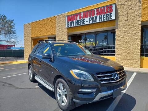 2012 Mercedes-Benz M-Class for sale at Marys Auto Sales in Phoenix AZ