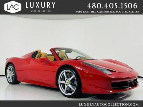 2015 Ferrari 458 Spider for sale at Luxury Auto Collection in Scottsdale AZ