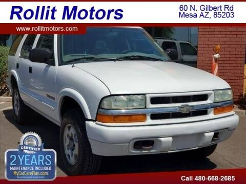 2004 Chevrolet Blazer for sale at Rollit Motors in Mesa AZ