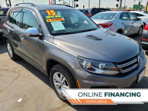 2015 Volkswagen Tiguan for sale at Super Cars Sales Inc #1 - Super Auto Sales Inc #2 in Modesto CA