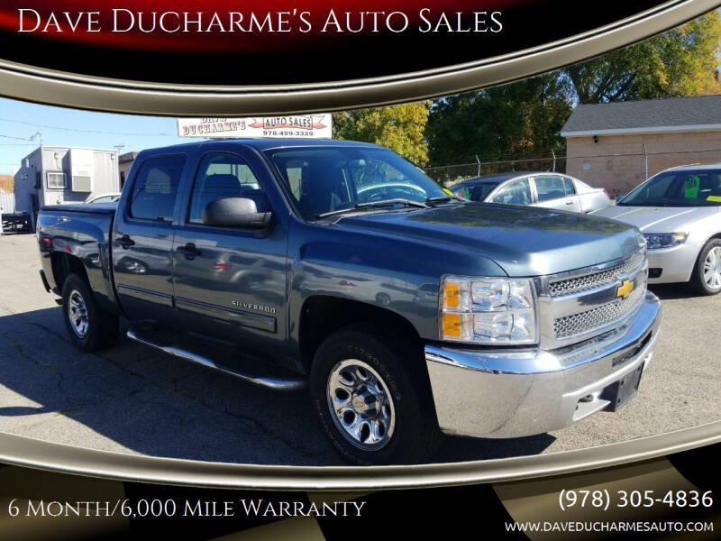 2012 Chevrolet Silverado 1500 for sale at Dave Ducharme's Auto Sales in Lowell MA