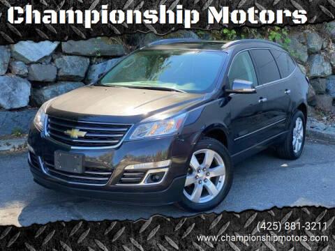 2016 Chevrolet Traverse for sale at Championship Motors in Redmond WA