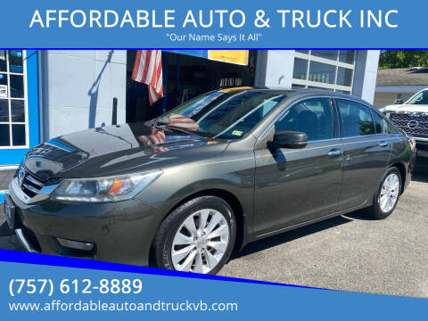 2014 Honda Accord for sale at AFFORDABLE AUTO & TRUCK INC in Virginia Beach VA