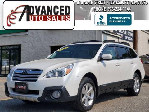2014 Subaru Outback for sale at Advanced Auto Sales in Dracut MA