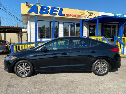 2018 Hyundai Elantra for sale at Abel Motors, Inc. in Conroe TX